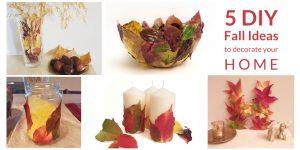 Fall leaves DIY decor