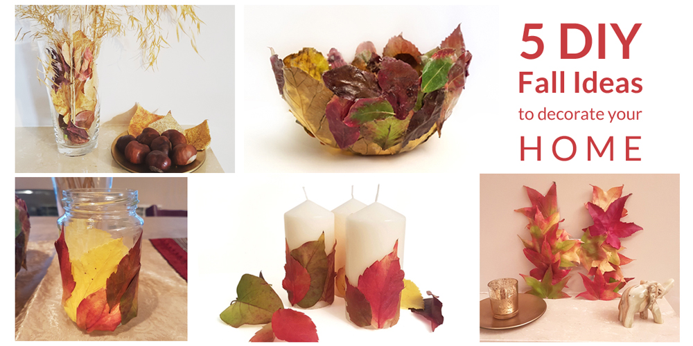 Fall leaves DIY decor