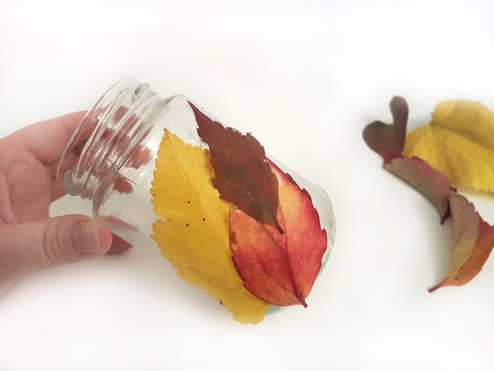 proceso portavelas hojas