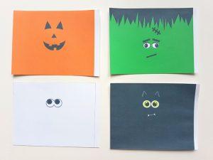Printable halloween pinatas