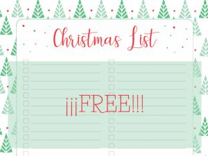 Christmas list cover
