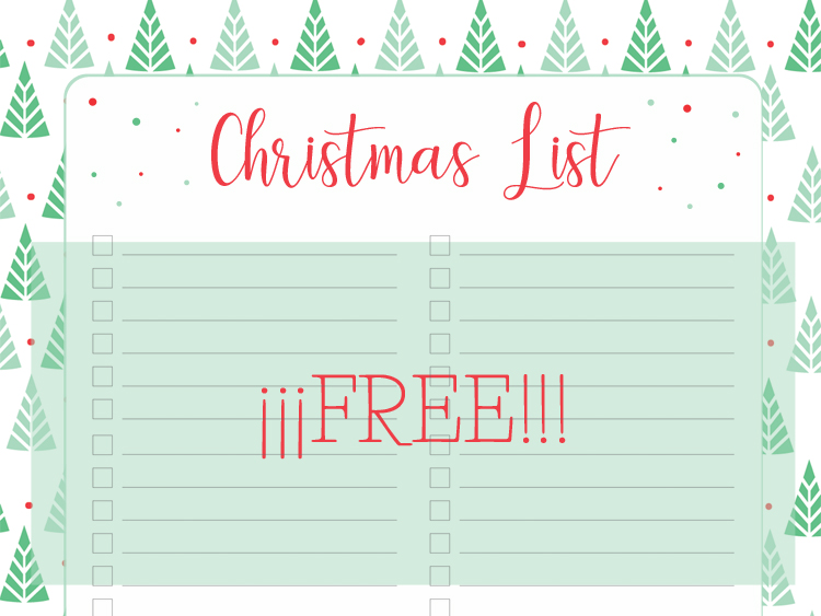 Christmas List Printable.Printable Christmas List Download Free My Berry Own