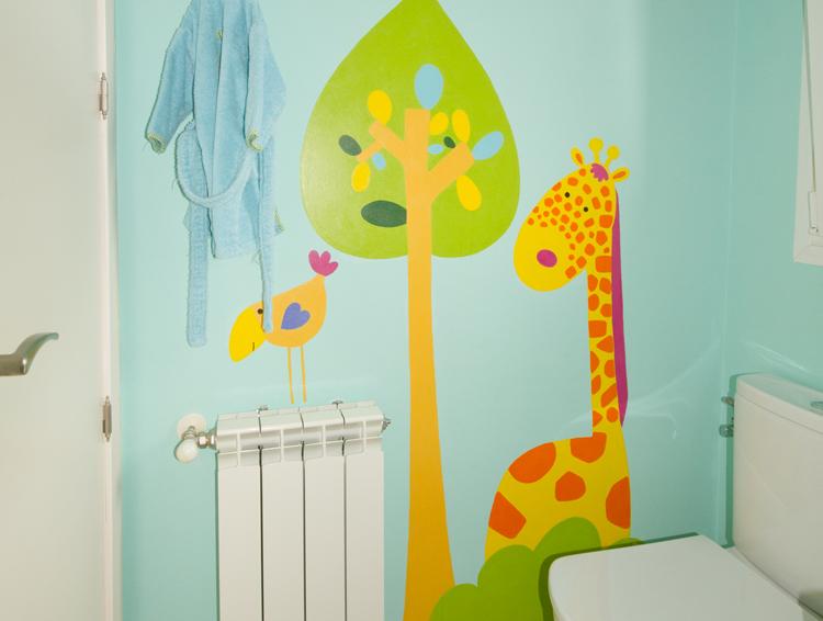 Pintar dibujos en paredes