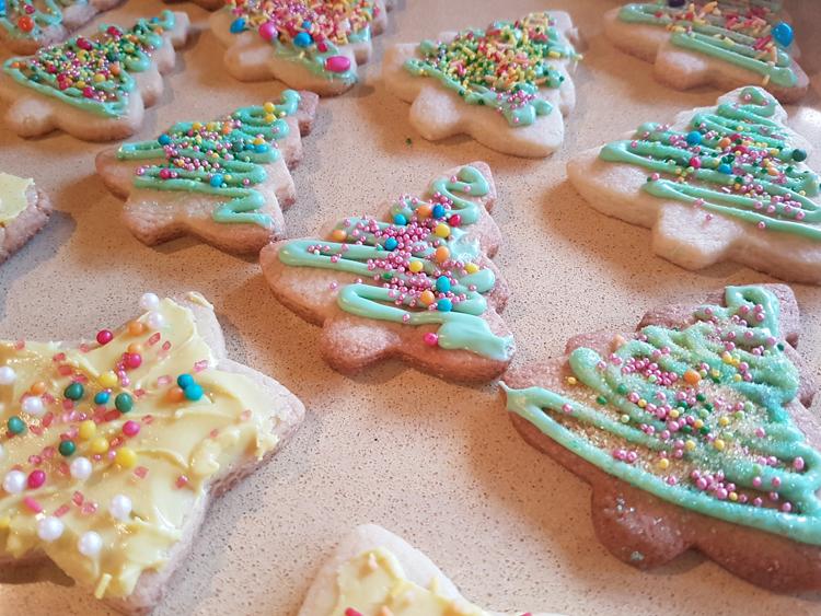 Decorated Christmas cookies / Galletas Navideñas decoradas