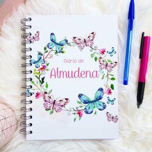 diario mariposas y hadas personalizado portada