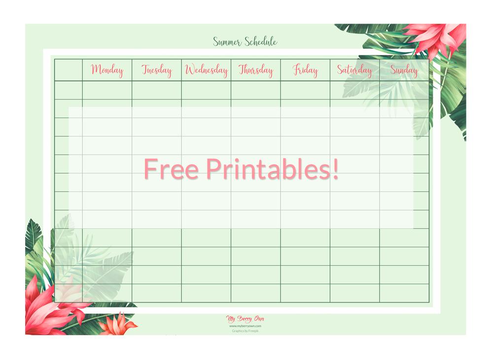 Summer Schedule Featured Image