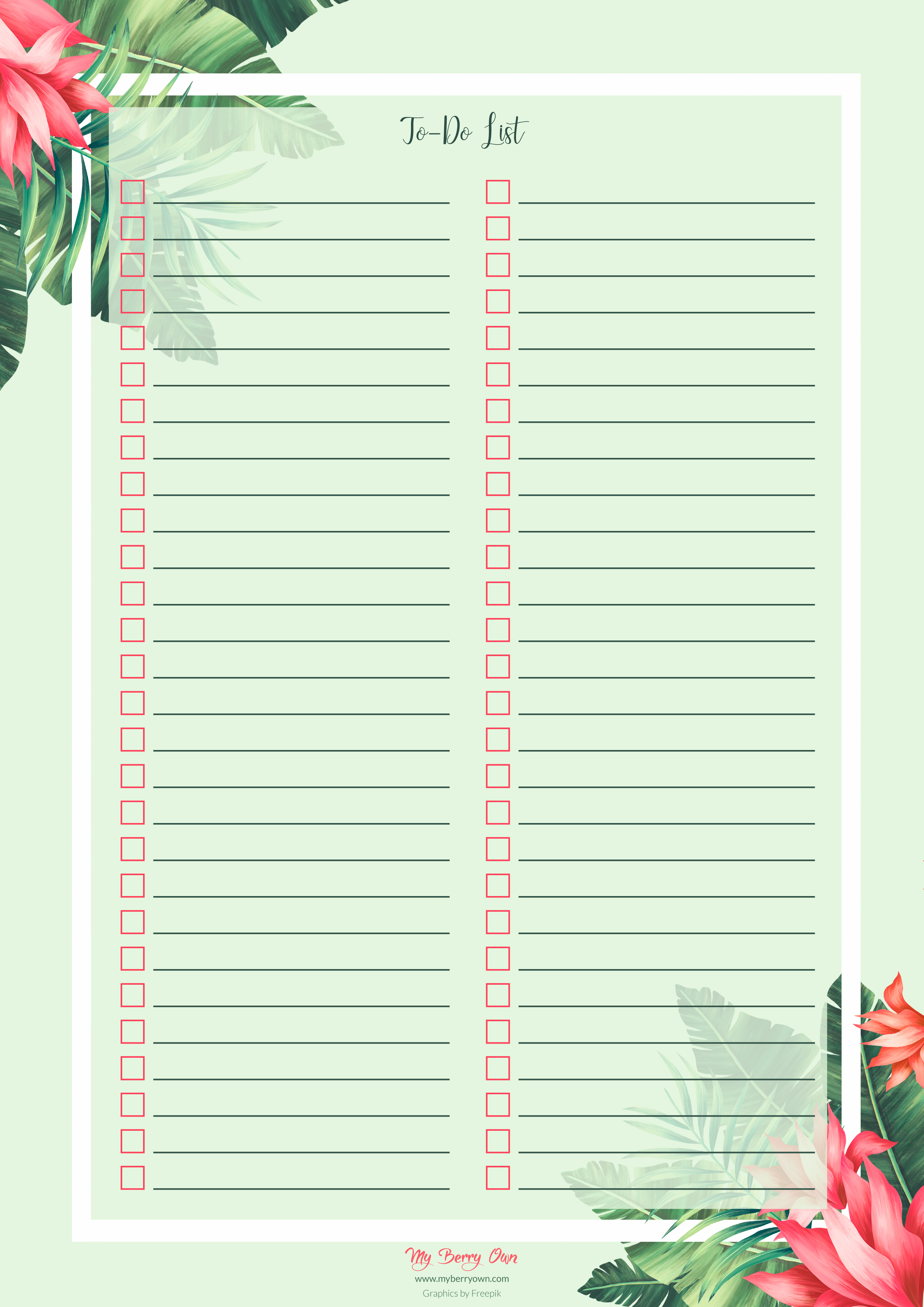 Tropical To-Do List