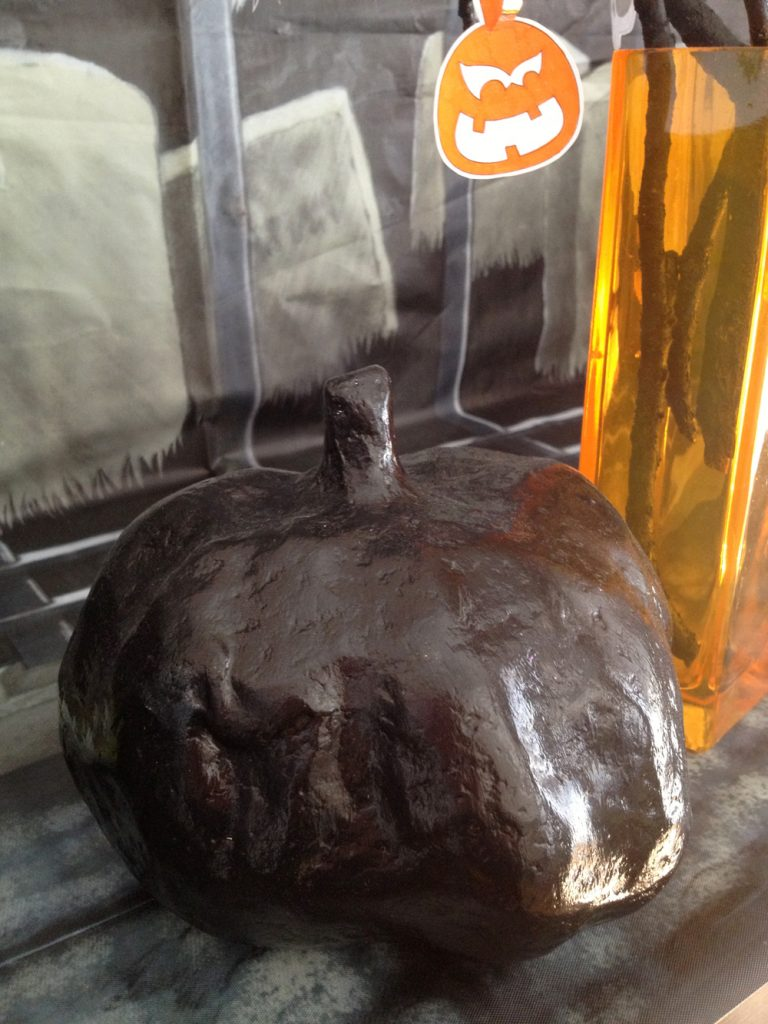 black decorative halloween pumpkin
