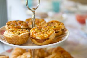Mini-quiches close up