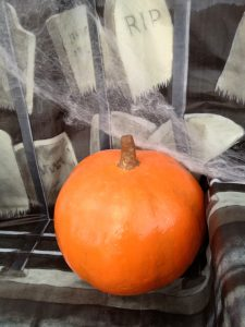 orange round decorative halloween pumpkin