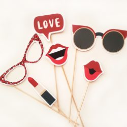 Photo props chic rojo