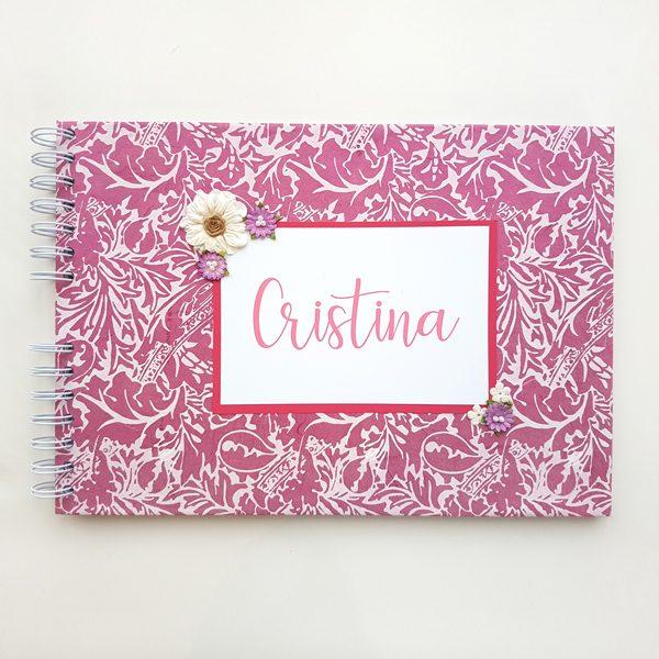 Album papel textura rosa oscuro A4