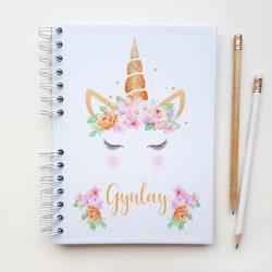 Agenda unicornio naranja portada