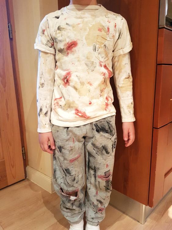 Disfraz de zombie casero DIY