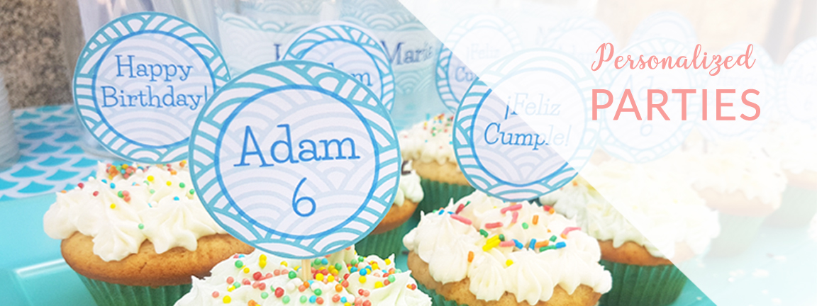 Featured image Personalized parties cupcake toppers