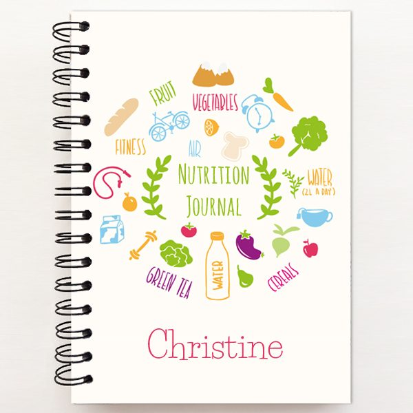 Healthy Nutrition Journal Cover personalized