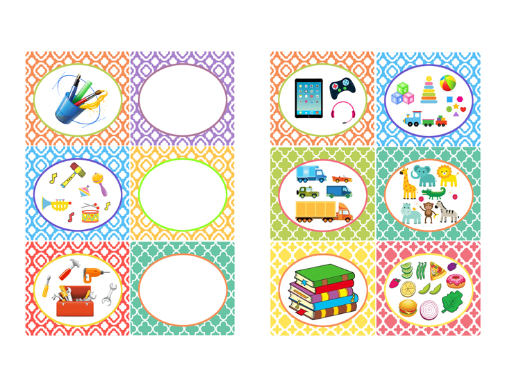 Toy organizing labels printables