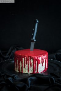 Receta halloween tarta sangrienta