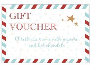 Christmas voucher advent calendar english