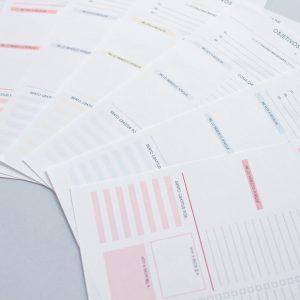 paginas interiores agendas colores