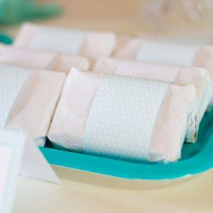 bandas sandwiches kit fiesta verde geometrico